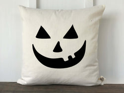 Pumpkin Face Pillow Cover