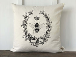 Queen Bee Vintage French Inspired Pillow Cover - Returning Grace Designs