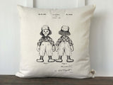 Raggedy Andy Patent Nursery Pillow Cover - Returning Grace Designs