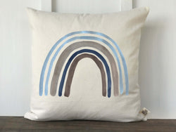 Blue Rainbow Baby Pillow Cover - Returning Grace Designs