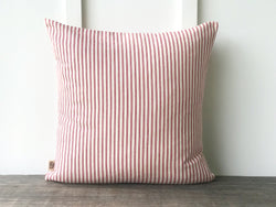 Red Ticking Pillow Cover - Returning Grace Designs