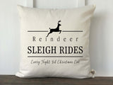 Reindeer Sleigh Rides Christmas Pillow Cover - Returning Grace Designs