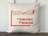 Santa Letter Personalized Farmhouse Pillow Cover - Returning Grace Designs