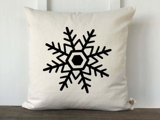 Single Snowflake Pillow Cover - Returning Grace Designs