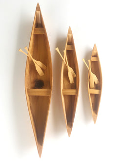 Louisiana Cypress Pirogue Replica in Multiple Sizes - Returning Grace Designs