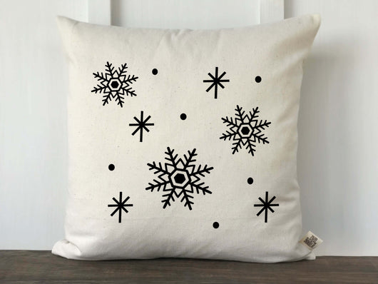 Snowflake Pattern Pillow Cover - Returning Grace Designs
