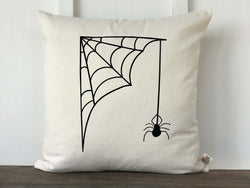 Spider with Web Pillow Cover