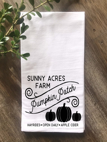 Pumpkin Patch Farm Flour Sack Tea Towel - Returning Grace Designs