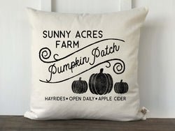 Pumpkin Patch Farm Pillow Cover - Returning Grace Designs