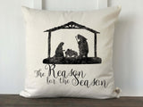 The Reason for the Season Nativity Scene Pillow Cover - Returning Grace Designs