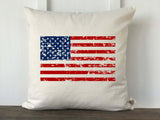 USA Flag Distressed Pillow Cover - Returning Grace Designs
