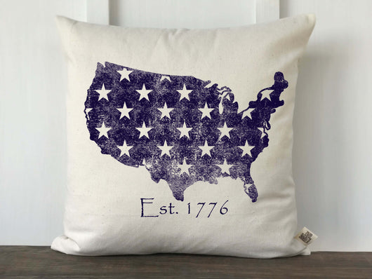 USA with Stars Distressed Pillow - Returning Grace Designs