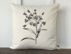 Vintage Wildflower No. 4 Pillow Cover