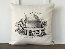 Vintage Bee Skep Pillow Cover - Returning Grace Designs