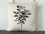 Vintage Camellia Pillow Cover - Returning Grace Designs