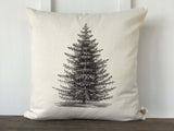 Vintage Christmas Tree Pillow Cover - Returning Grace Designs