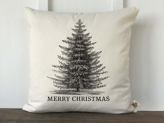 Vintage Christmas Tree Merry Christmas Pillow Cover - Returning Grace Designs