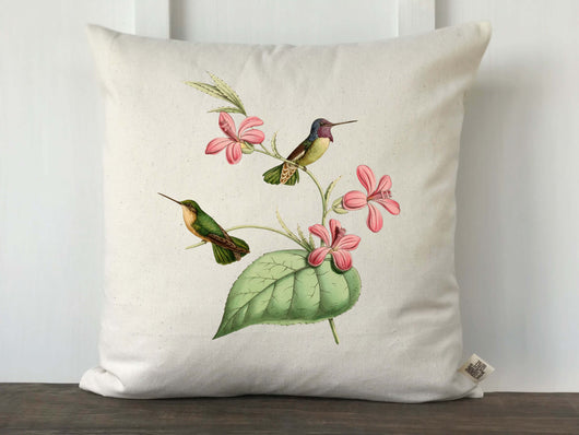 Hummingbird Vintage Print Pillow Cover - Returning Grace Designs
