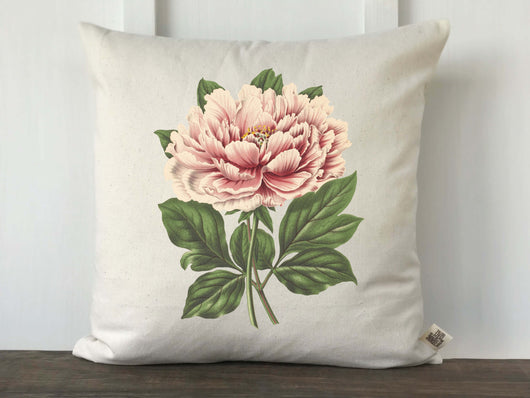Pink Peony Vintage Pillow Cover - Returning Grace Designs