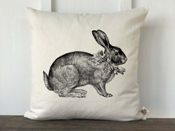Vintage Bunny Pillow Cover - Returning Grace Designs