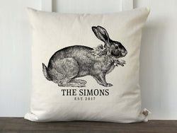 Vintage Bunny Personalized Pillow Cover - Returning Grace Designs
