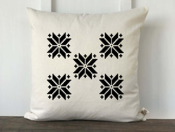 Vintage Snowflake Pattern Pillow Cover - Returning Grace Designs