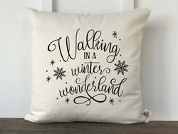 Walking in a Winter Wonderland Pillow Cover - Returning Grace Designs