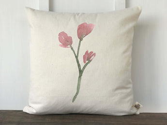 Watercolor Floral Branch Pillow Cover - Returning Grace Designs