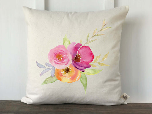 Watercolor Floral Pillow Cover - Returning Grace Designs