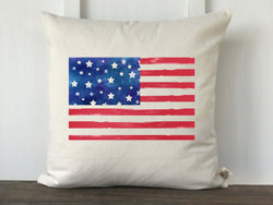 Watercolor USA Flag Pillow Cover