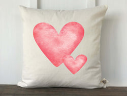 Watercolor Heart Pillow Cover - Returning Grace Designs