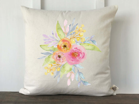Watercolor Floral Arragement Pillow Cover - Returning Grace Designs