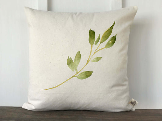 Watercolor Leaf Branch Pillow Cover - Returning Grace Designs