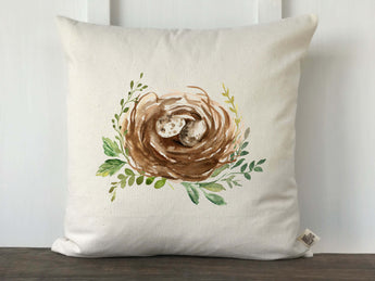 Watercolor Nest Pillow Cover - Returning Grace Designs