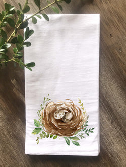 Watercolor Nest Flour Sack Towel - Returning Grace Designs