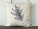 Fall Watercolor Oak Leaf Pillow Cover - Returning Grace Designs