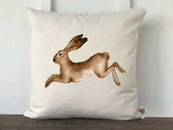 Watercolor Rabbit Pillow Cover - Returning Grace Designs