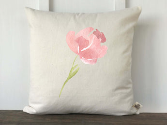 Watercolor Tulip Pillow Cover - Returning Grace Designs