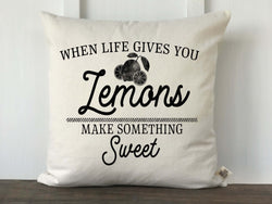When Life Gives You Lemons Pillow Cover - Returning Grace Designs