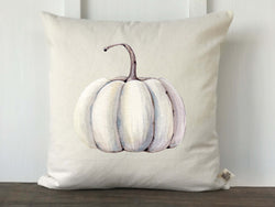 Ivory Watercolor Pumpkin Farmhouse Fall Pillow Cover - Returning Grace Designs