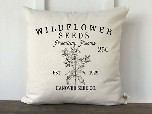 Wildflower Seeds Personalized Pillow Cover - Returning Grace Designs
