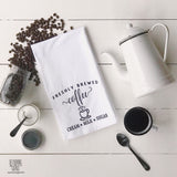 Freshly Brewed Coffee Flour Sack Tea Towel - Returning Grace Designs