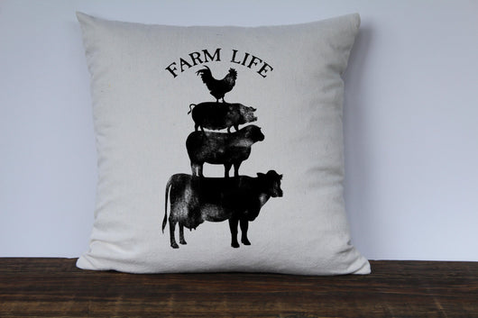 Farm Life Pillow Cover - Returning Grace Designs
