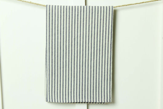 Farmhouse French Ticking Stripe Tea Towel - Returning Grace Designs