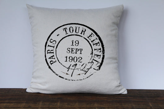 Paris Postmark Pillow Cover - 6 Styles Available - Returning Grace Designs