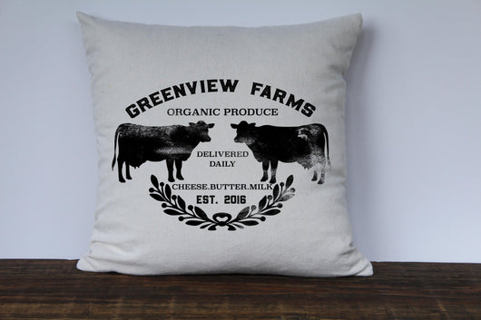 Farmhouse Personalized Last Name/Farm Pillow Cover - Returning Grace Designs