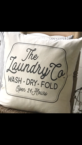 Laundry Company Farmhouse Pillow Cover - Returning Grace Designs