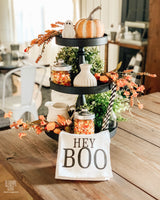 Hey Boo Floursack Tea Towel - Returning Grace Designs