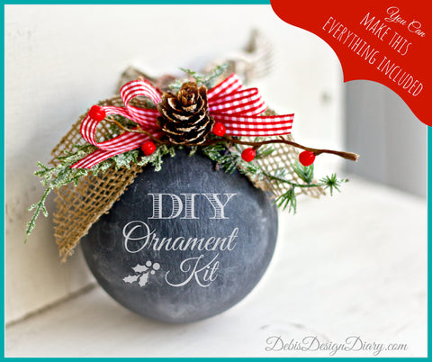DIY Chalk Ornament Kit