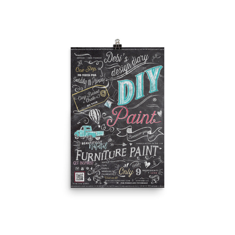 DIY Paint Retailer Poster - MUST BE SHIPPED TO USPS ADDRESS ONLY